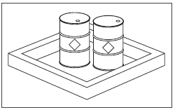 [Image] Two drums inside a large square container.